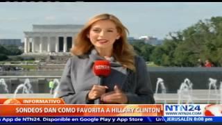 Nueva encuesta sobre elecciones en EE.UU. muestra que Clinton obtendría la victoria con 260 votos