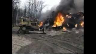 Tire Fire 1996 Grawn Michigan EPA