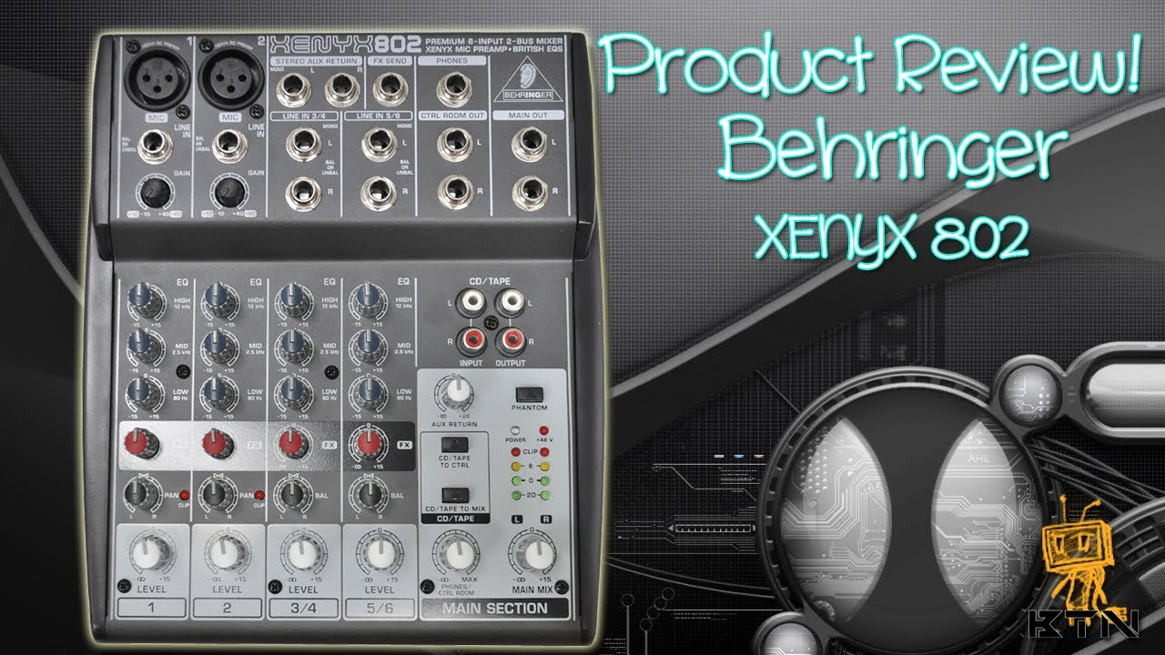 un boxing review behringer xenyx 802 mixer youtube. Black Bedroom Furniture Sets. Home Design Ideas