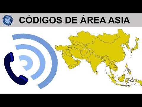 CÓDIGOS DE ÁREA ASIA