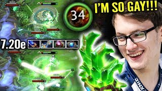 OMG MIRACLE Test Lion 7.20 Support End Up +34 Stack 2500 Finger Dmg Craizest Fun Dota 2