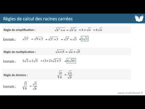 Racines carrées : règles de calculs - Cours de maths