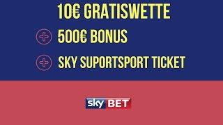 Sky Bet 10€ Gratiswette + Sky Supersport Ticket + 500€ Bonus 😮