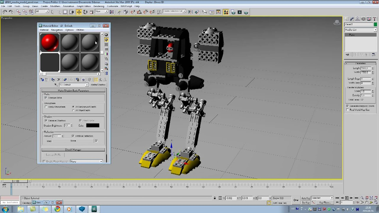 Import lego digital designer model into 3ds max part 33 youtube pronofoot35fo Images