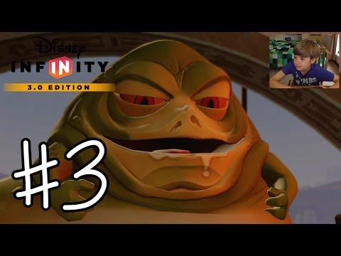 Disney Infinity 3.0 Twilight of the Republic #3 - JABBA THE HUTT + BOBA FETT!!! | KID GAMING