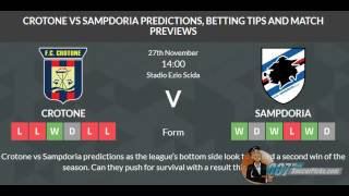 Crotone vs Sampdoria PREDICTION (by 007Soccerpicks.com)