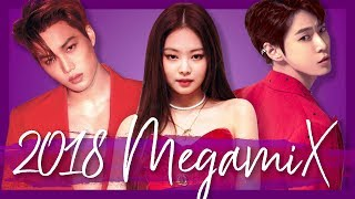 A YEAR IN K-POP | 2018 MEGAMIX (50+ songs!)