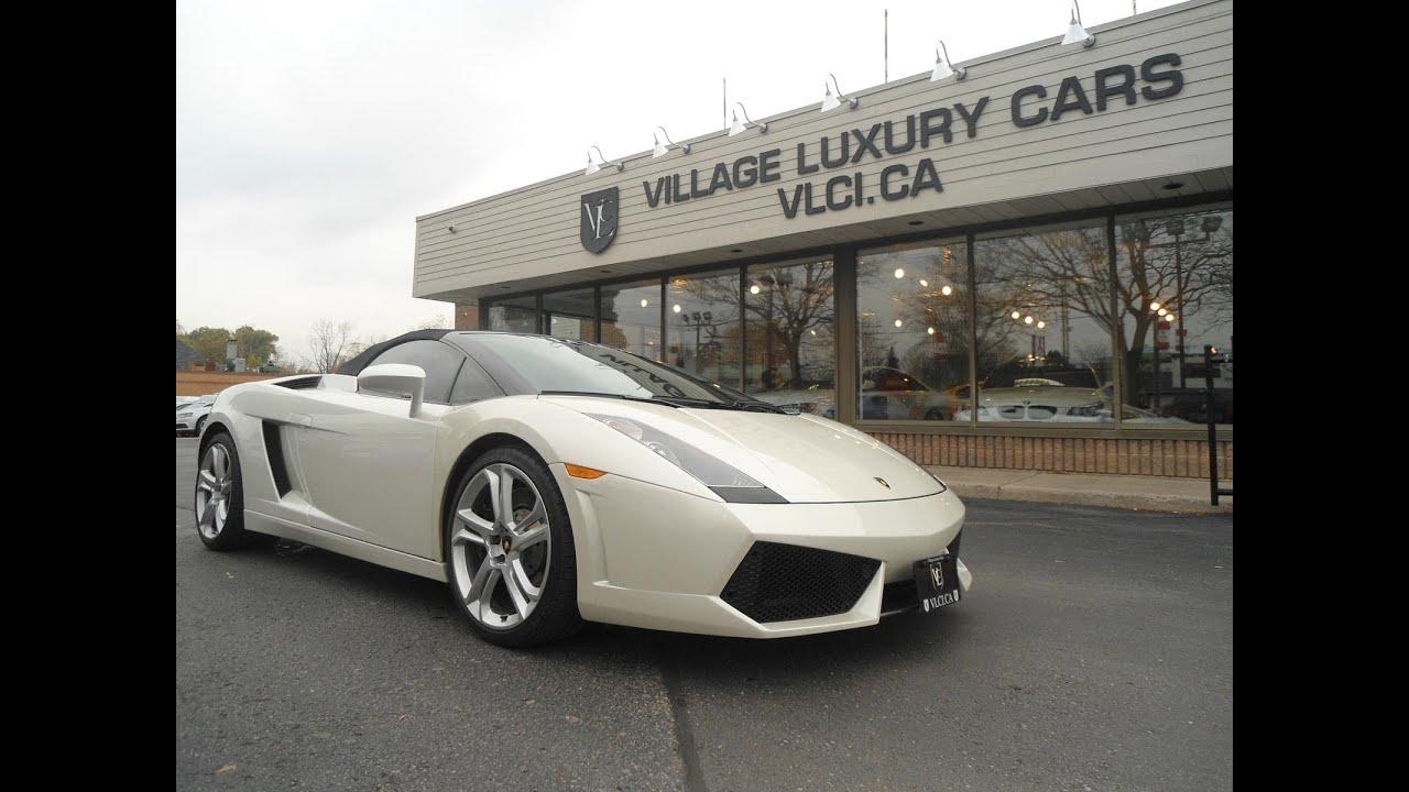 2007 Lamborghini Gallardo Spyder In Review Village Luxury Cars