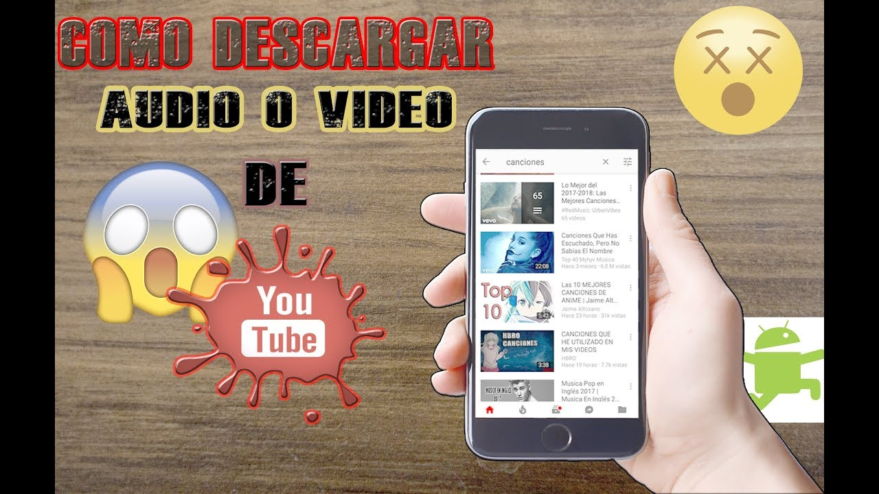 descargar audio y video de youtube