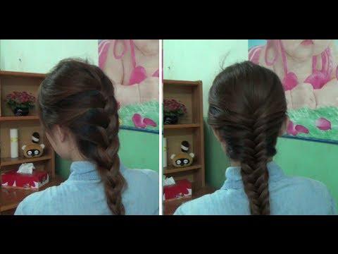 Hairstyles - Cách Tết Tóc Đẹp Kiểu Đuôi Sam Và Xương Cá
