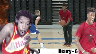 NASTIEST CROSSOVER EVER!! JIMMY BUTLER 1 ON 1 WITH HENRY ELLENSON REACTION!!