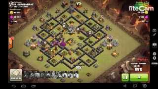 GoLaLoon. By ROB. Townhall9. 3 Star attack. clash of clans