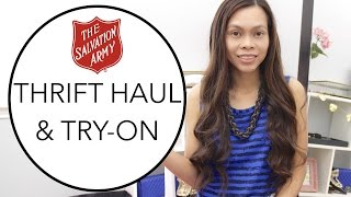 Thrift Haul & Try On   Salvation Army