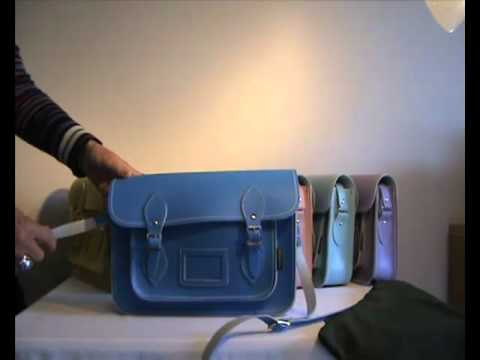 Zatchels Blue Pastel Leather Satchel