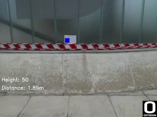 Automated Drone Flight: Real-Time Distance to Target