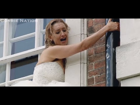 Coronation Street - Eva Nearly Falls Off The Ledge