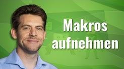 Excel Makros mit dem Makrorecorder aufnehmen