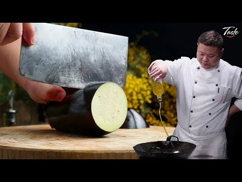 Amazing Knife Skills – Cutting Eggplant l Eggplant recipes by Masterchef