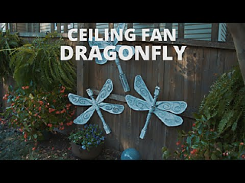 Make a fun ceiling fan dragonfly diy network youtube make a fun ceiling fan dragonfly diy network mozeypictures Choice Image
