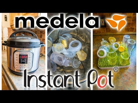 HOW I CLEAN AND SANITIZE MY MEDELA BREAST PUMP IN THE INSTANT POT