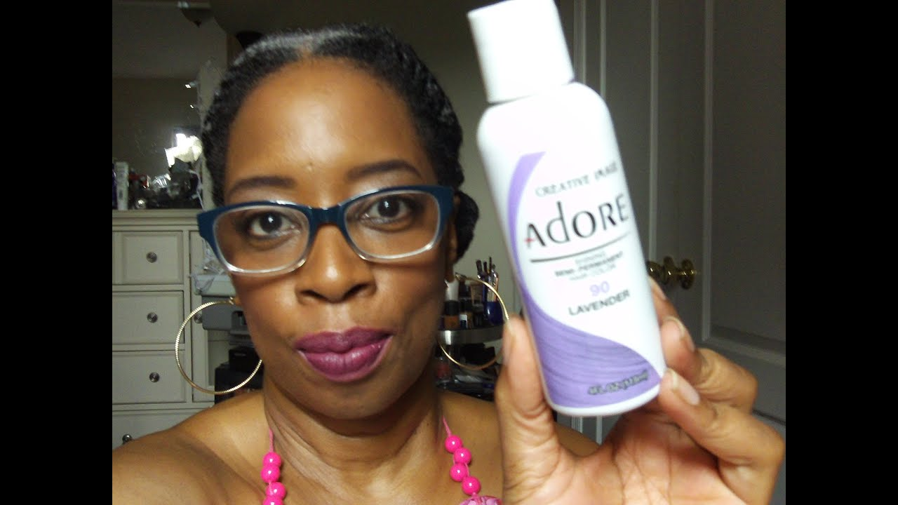 Lavender Semi Permanent Color Rinse On Natural Hair - YouTube