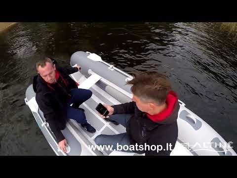 Надувная лодка с алюминиевым дном Gladiator RIB 380 ⁄ Tohatsu 9,8 (обзор Литва)