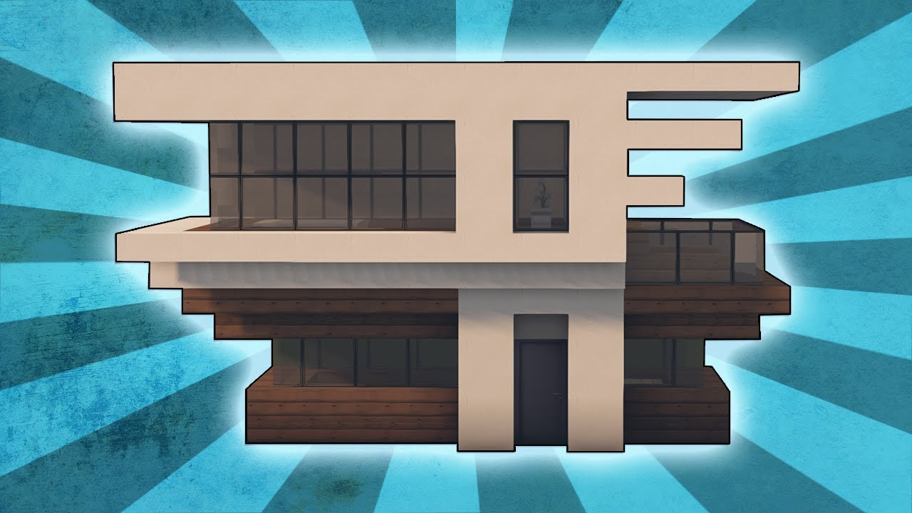 Minecraft how to build a small modern house tutorial 2 rizzial