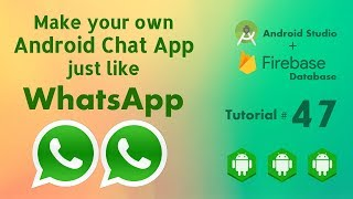 Firebase Chat App - Android Studio Tutorial 47 Chat Custom Bar - Android Chat App using Firebase