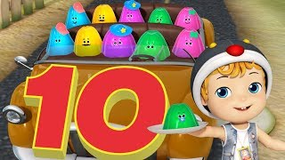 Ten In The Bed Nursery Rhymes & Baby Songs with Jellies | Infobells