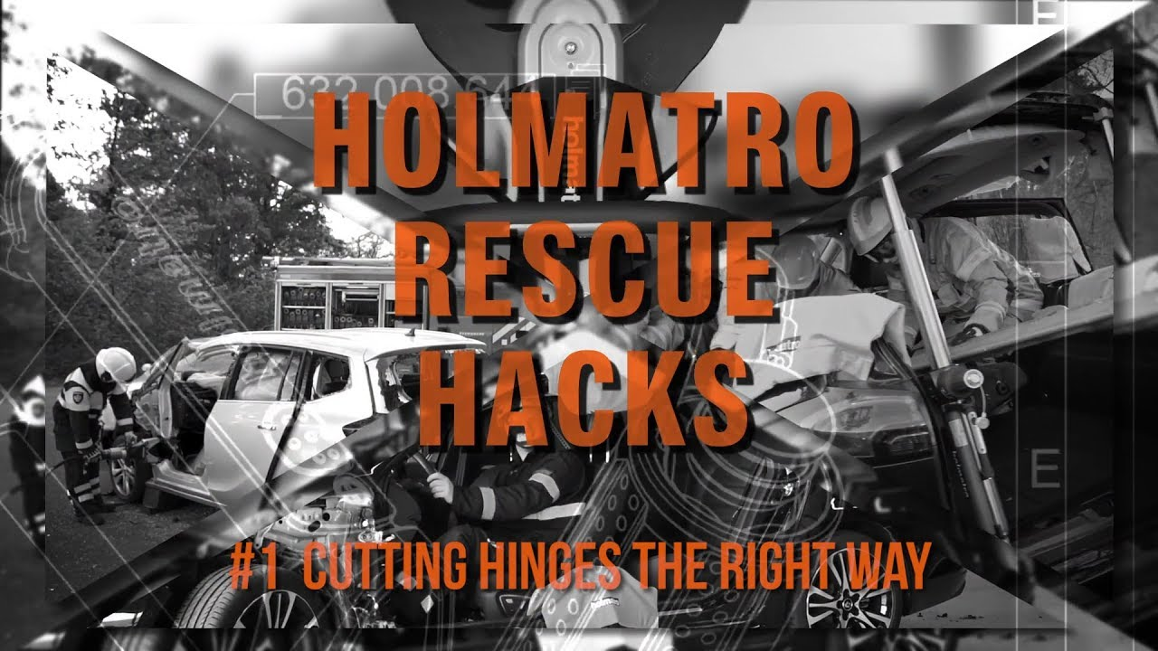 Holmatro Rescue Hacks: #1 Cutting hinges the right way