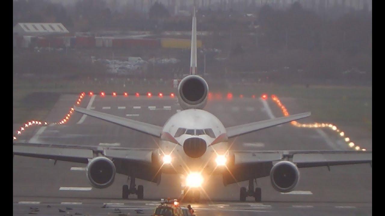 Biman Bangladesh DC-10-30 S2-ACR Crosswind Landing at ...