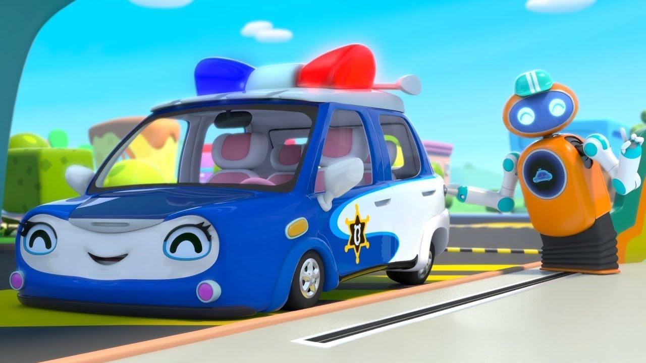 경찰차에게 기름을 넣어줘요 | 주유소 동요 | 로봇 | 자동차 | 베이비버스 인기동요