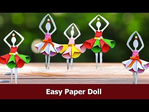 newspaper crafts ideas how to make a paper doll 2554