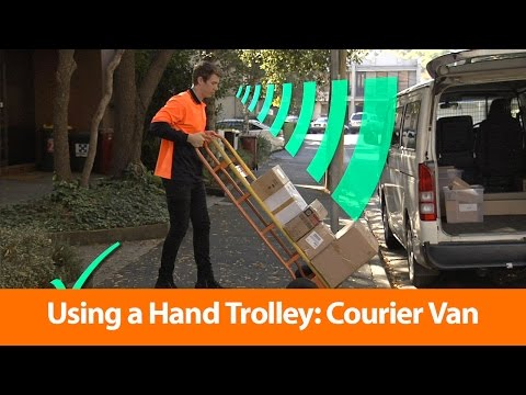 Courier Vans: Using A Hand Trolley - Manual Handling Training Video