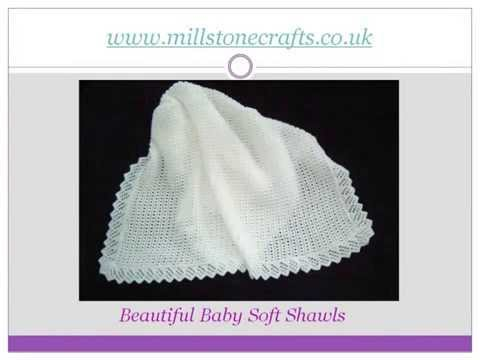 Hand Knitted Baby Shawls Blankets Youtube
