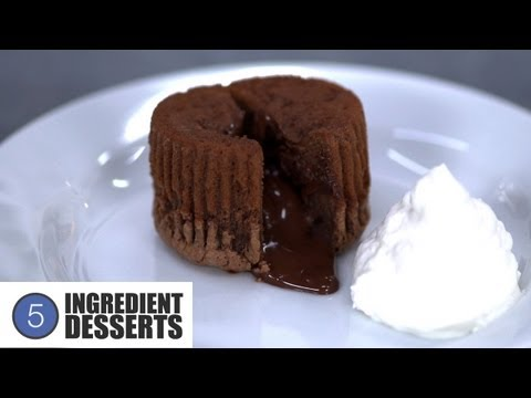 Chocolate Lava Cakes | 5 Ingredient Desserts
