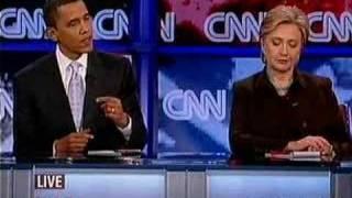 Obama Clinton Debate Iraq War on CNN