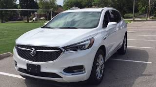 First LOOK 2020 Buick Enclave AWD Avenir Handsfree Hatch 6 Passenger Sunroof White Oshawa #200030