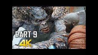 GOD OF WAR Gameplay Walkthrough Part 9 - Mountain Troll (PS4 PRO 4K Commentary 2018)