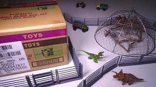 Opening JURASSIC WORLD Blind Bags SEALED CASE of 12! Surprise Dino Figures!