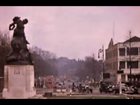 London  Late 1940s in Colour Georges Delerue Vrare footage