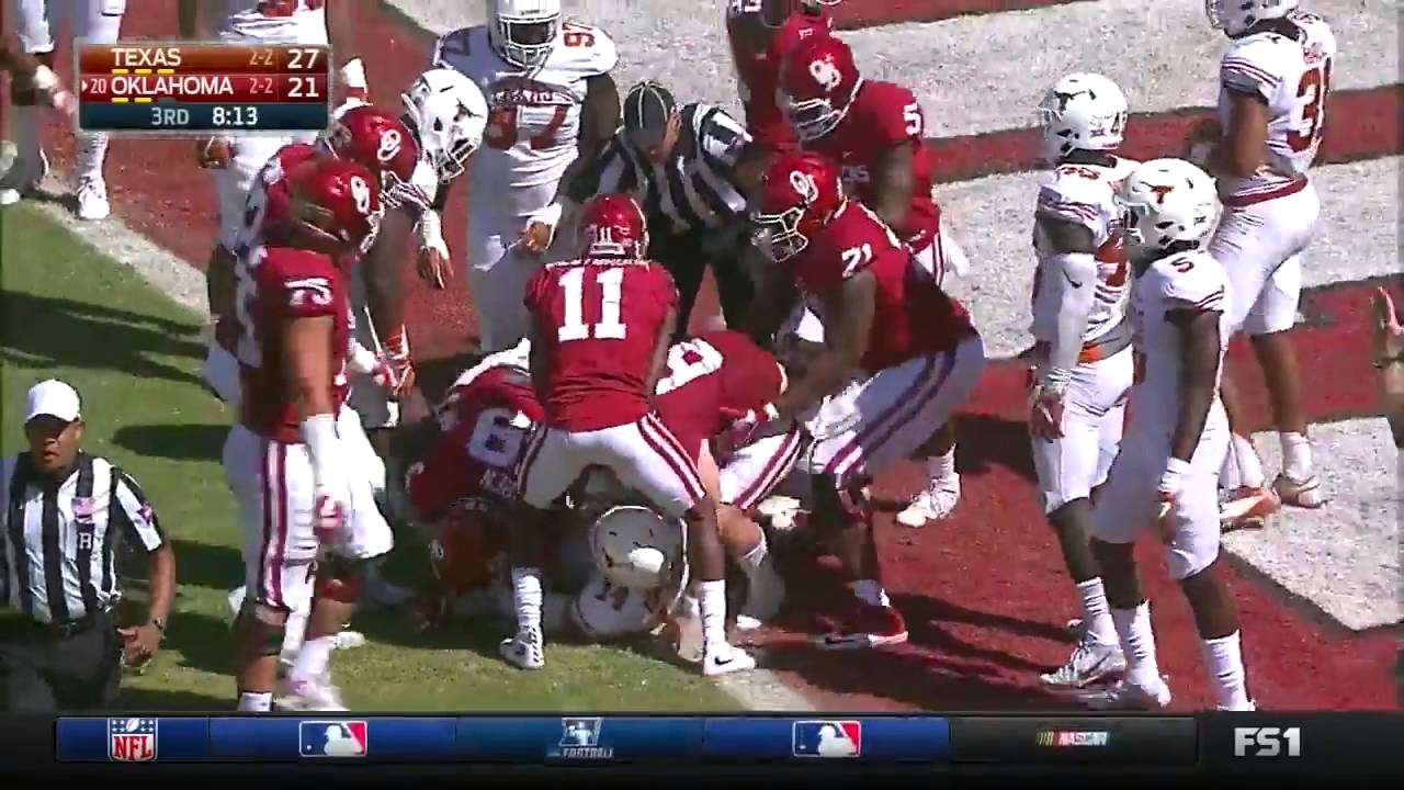 Oklahoma vs Texas | 2016 Big 12 Football Highlights - YouTube