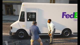 GTA 5 PC Michael VS FedEx Guy