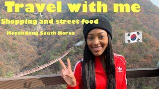 Korea Vlog #10   Shopping In Meyondong   Trying street food  🇰🇷