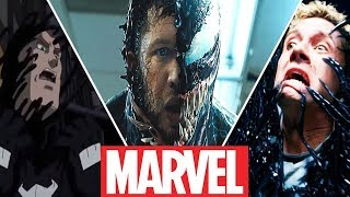 Evolution of Eddie Brock's Transformations Into Venom in Movies,Cartoons and Games (2018)