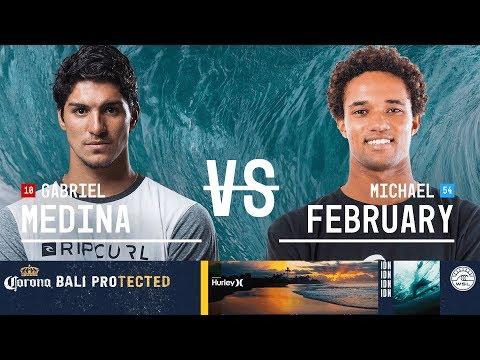 Gabriel Medina vs. Michael February - Round Three, Heat 7 - Corona Bali Protected 2018