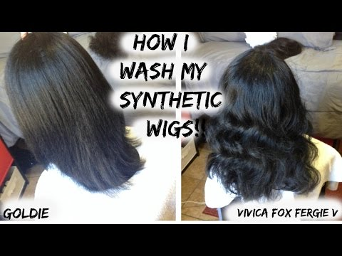 How I Wash My Synthetic Wigs!