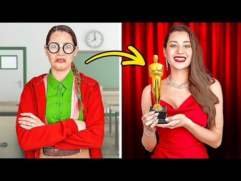 POPULAR GIRL VS NERD! How To Become Popular At School Overnight! TikTok Makeover By 123GO! CHALLENGE