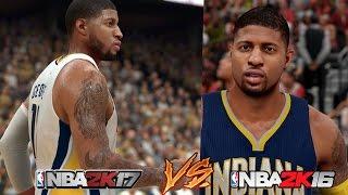 NBA 2K17 Gameplay VS NBA 2K16 Graphics Comparison 100% CRAZY! [FullHD][60fps]
