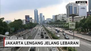 Jakarta Lengang Jelang Lebaran